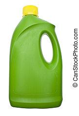 бутылка, уборка, зеленый