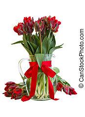 ваза, цветы, весна, тюльпан