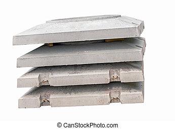 вверх, углубления, воды, бетон, часть, белый