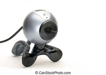 веб-камера, над, белый