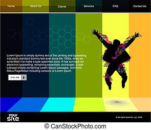 веб-сайт, дизайн, шаблон