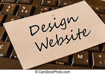 веб-сайт, концепция, дизайн, клавиатура