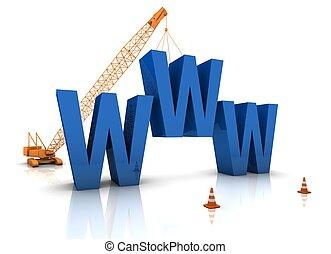 веб-сайт, строительство, под