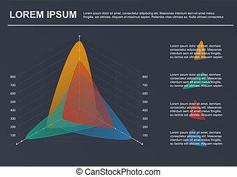вектор, бизнес, template., диаграмма, infographic, 4, options