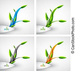 вектор, весна, концепция