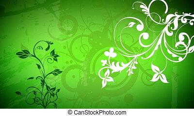 вектор, цветы, 2, петля