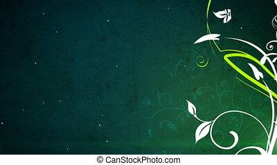 вектор, цветы, 3, петля