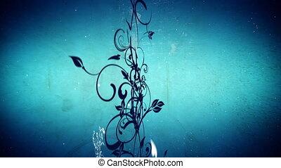 вектор, цветы, 5, петля