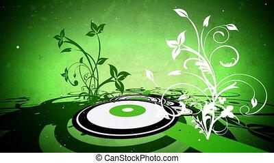 вектор, цветы, 7, петля