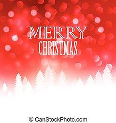 вектор, bokeh, текст, рождество, дизайн, иллюстрация, ...