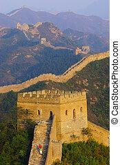 великий, стена, of, китай