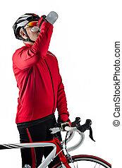 велосипедист, питьевой, воды