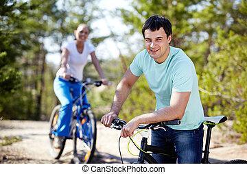 велосипед, человек