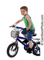 верховая езда, велосипед, мальчик