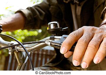 верховая езда, bike., человек