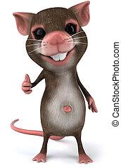 весело, мышь