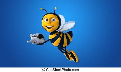 весело, пчела