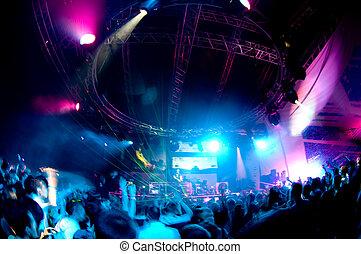 весело, having, концерт, люди
