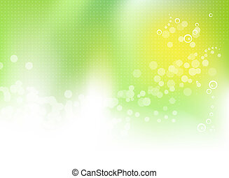 весна, абстрактные, зеленый, задний план
