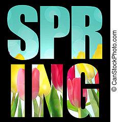 весна, задний план, абстрактные, цветок, иллюстрация