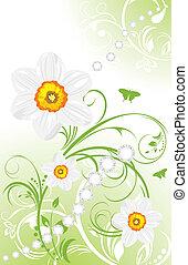 весна, задний план, орнаментальный