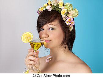 весна, коктейль