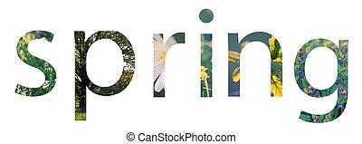 весна, концепция, буквы