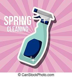весна, концепция, уборка