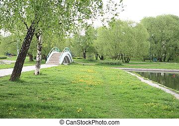 весна, парк, город