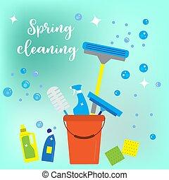 весна, стиль, концепция, уборка, квартира