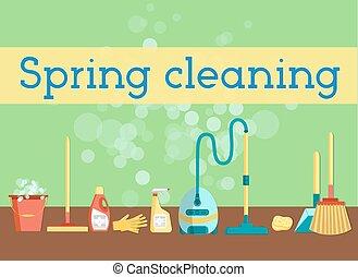 весна, уборка