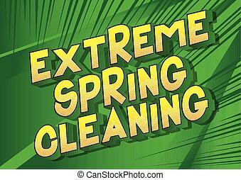 весна, уборка, экстремальный