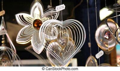 ветер, windmills, figures, интересно, счетчик, sizes, shapes, различный, германия, год, новый, кинетический, раскачивание, рождество, рынок, оформление