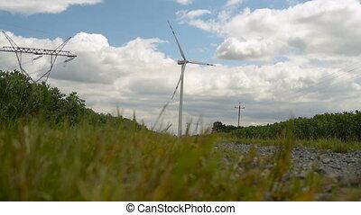 ветряная мельница, производство, электрический, мощность