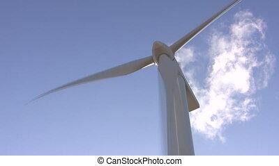 ветряная мельница, синий, небо