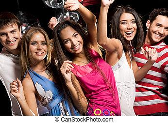 вечеринка, enjoying