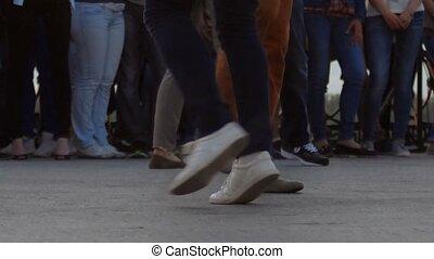вечер, выстрел, танцы, воздух, couples, time., defocused, ...
