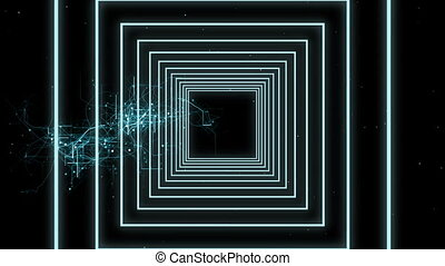 видео, lines, концентрический, цифровой, generated