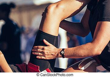 виды спорта, массаж