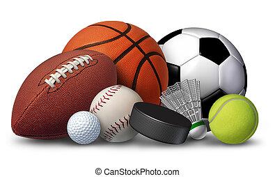 виды спорта, оборудование