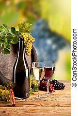 вино, в, виноградник