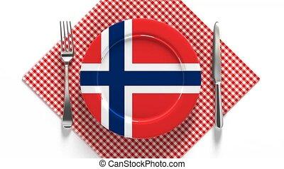 вкусно, scandinavia., блюда, пластина, национальный, питание, norway., кухня, recipes, флаг