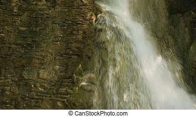 водопад, лес