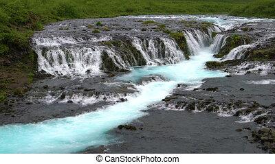 водопад, bruarfoss, iceland., brekkuskogur