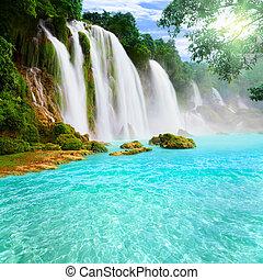 водопад, detian