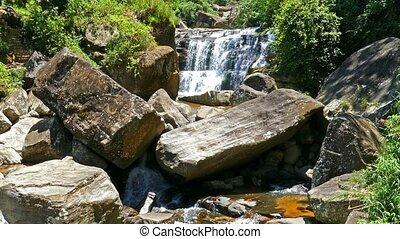 водопад, lanka, лес, sri