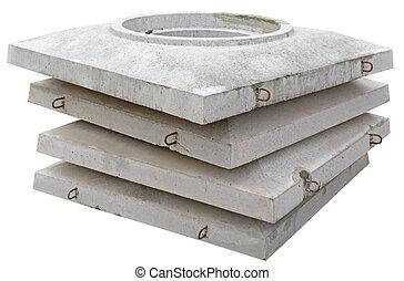 воды, бетон, вверх, часть, углубления