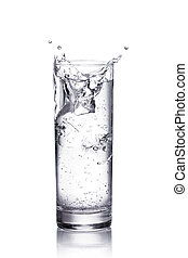 воды, всплеск, в, , glass., isolated, на, белый