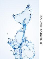 воды, всплеск, isolated, на, белый