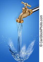 воды, кран